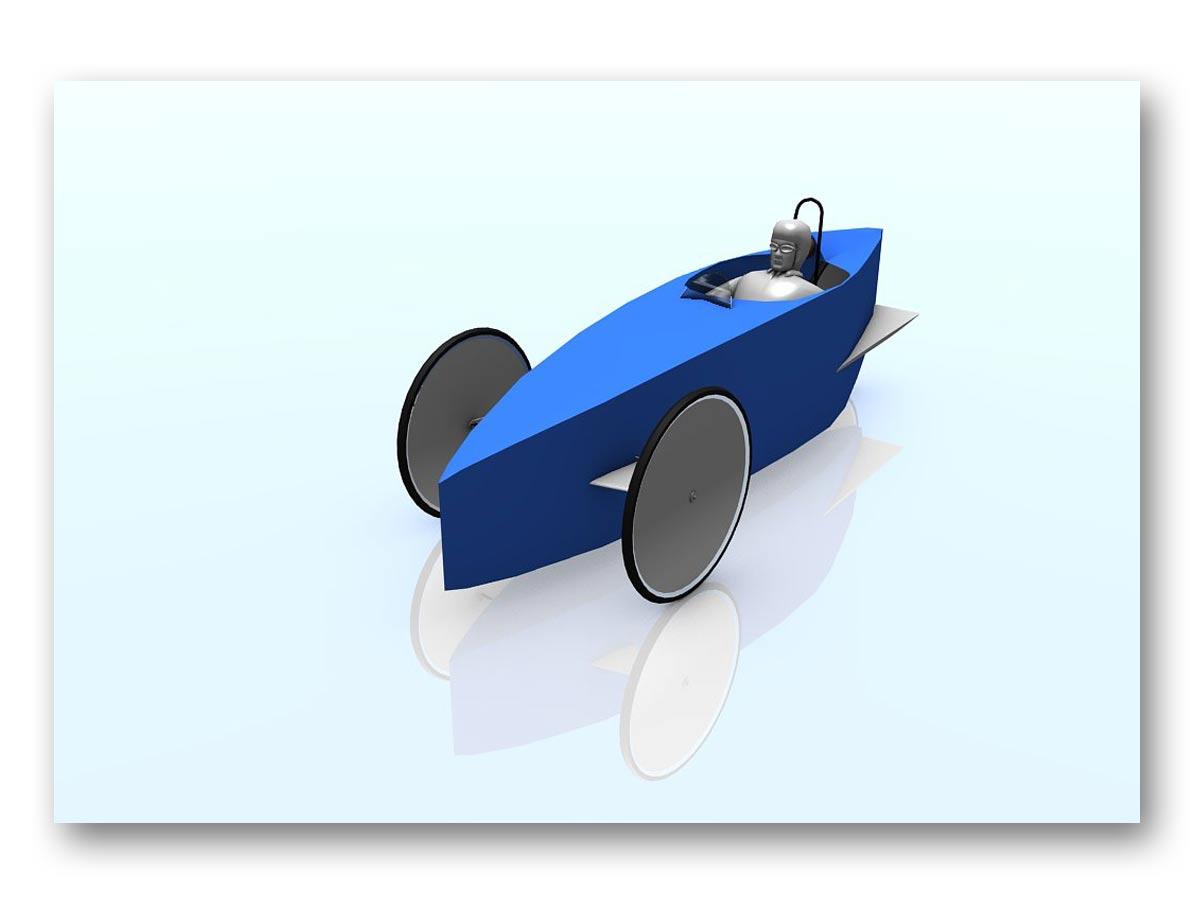 3D rendu prototype vélo 3 roues - fasmdesign.com