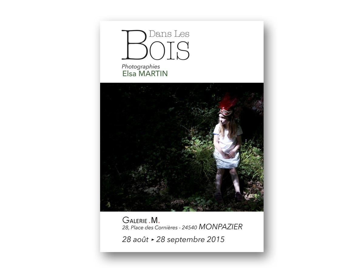 fasmdesign.com affiche Elsa Martin - Dans les Bois