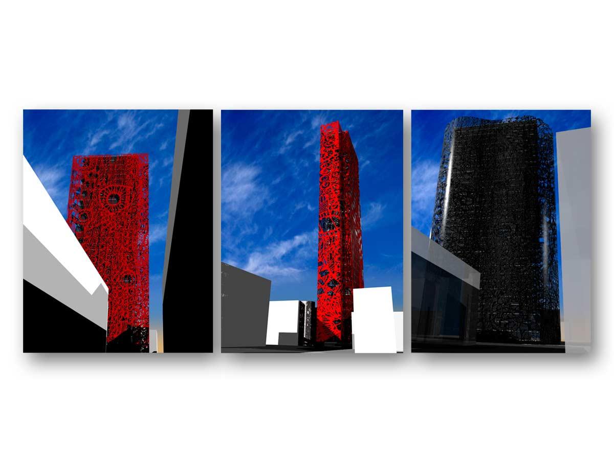 3D rendu coucours Barecelona - B.SAILLOL architecture