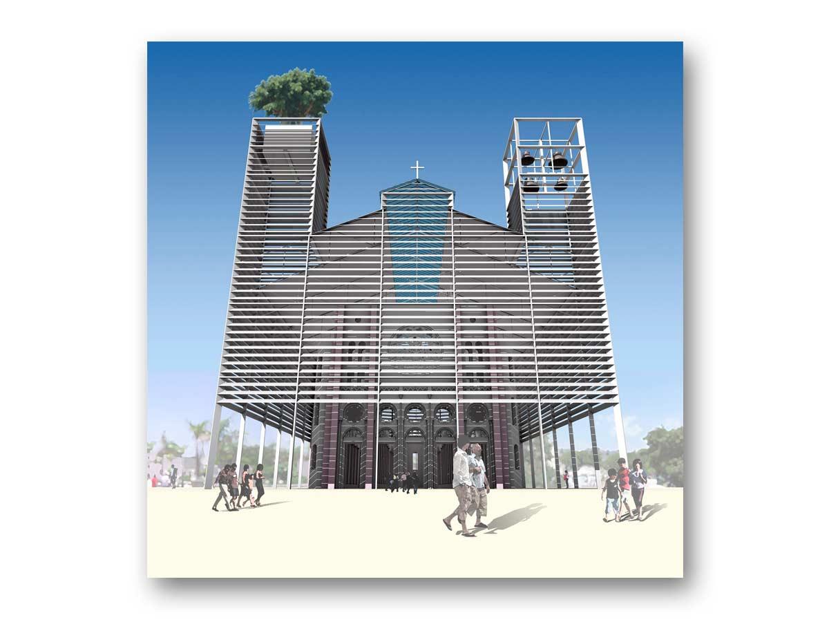 3D rendu - coucours Haïti - B.SAILLOL architecture