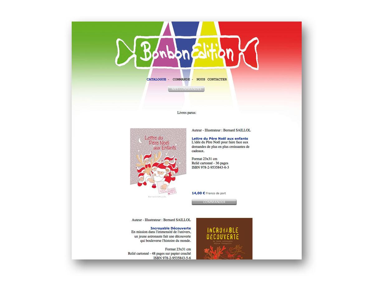 Site Bonbon Edition - fasmdesign.com