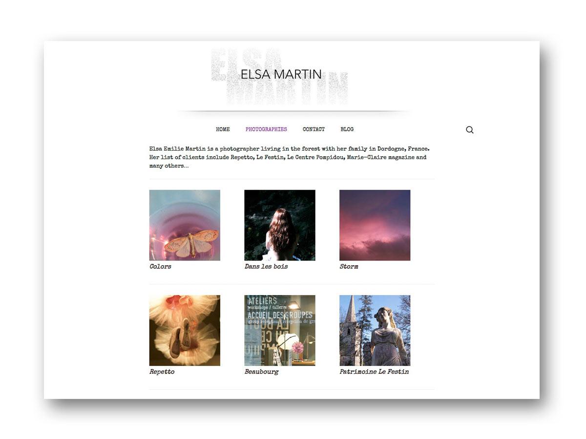 Site Elsa MARTIN - fasmdesign.com
