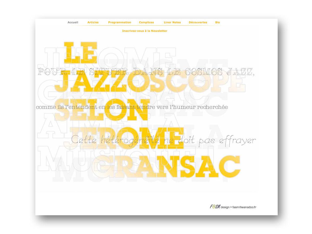 Site Jérôme Gransac - fasmdesign.com
