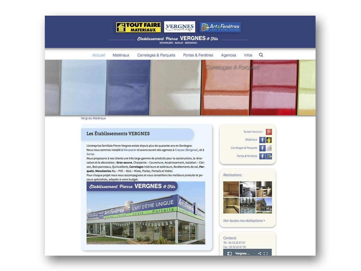Site VERGNES MATERIAUX - fasmdesign.com