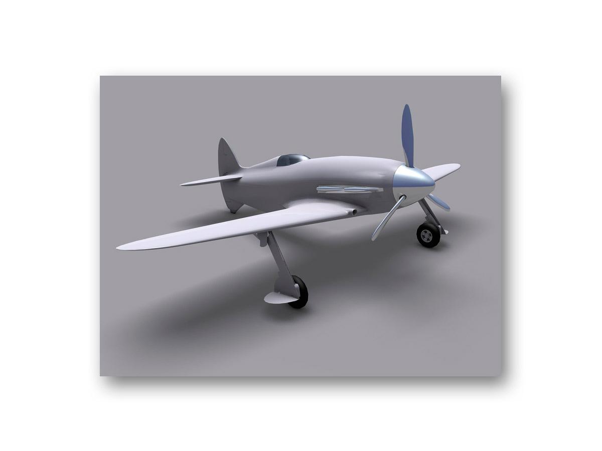 3D rendu avion - fasmdesign.com