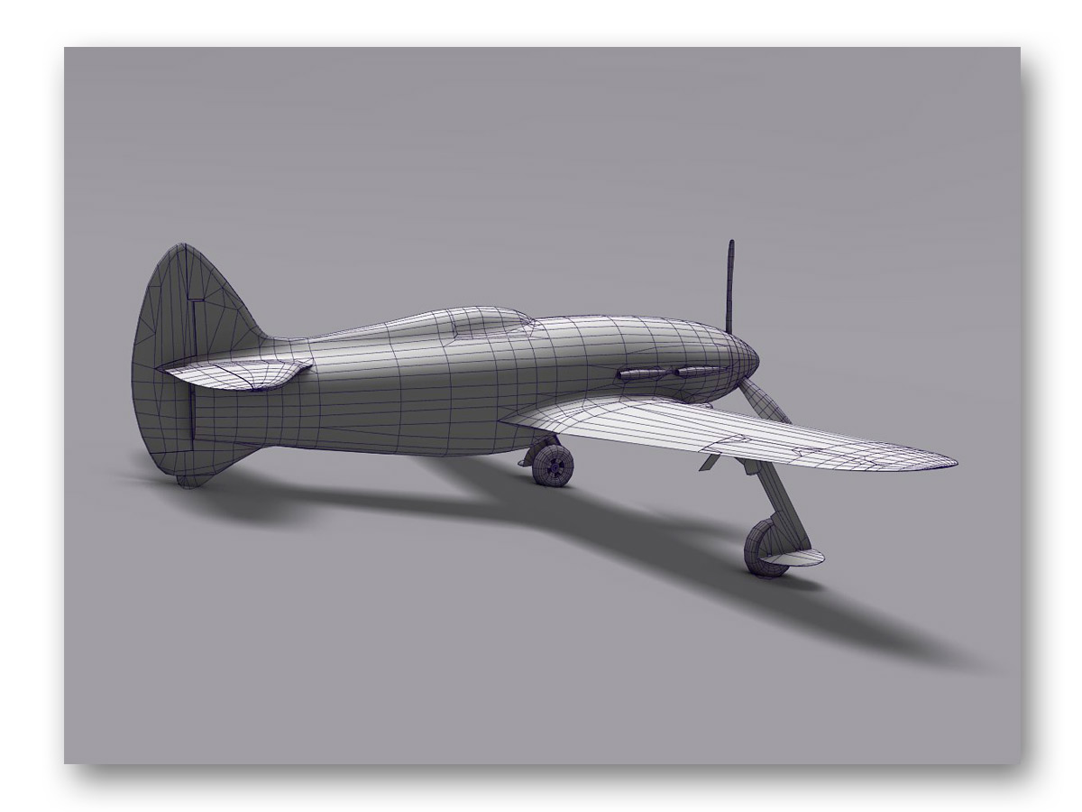 3D rendu avion - fasmdesign.com
