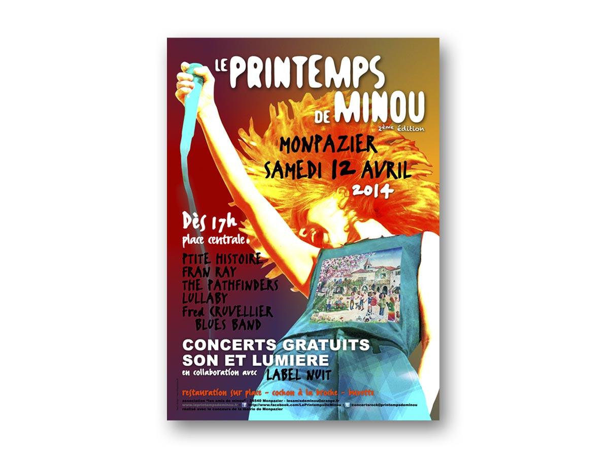 fasmdesign.com affiche Le Printemps de Minou 2014
