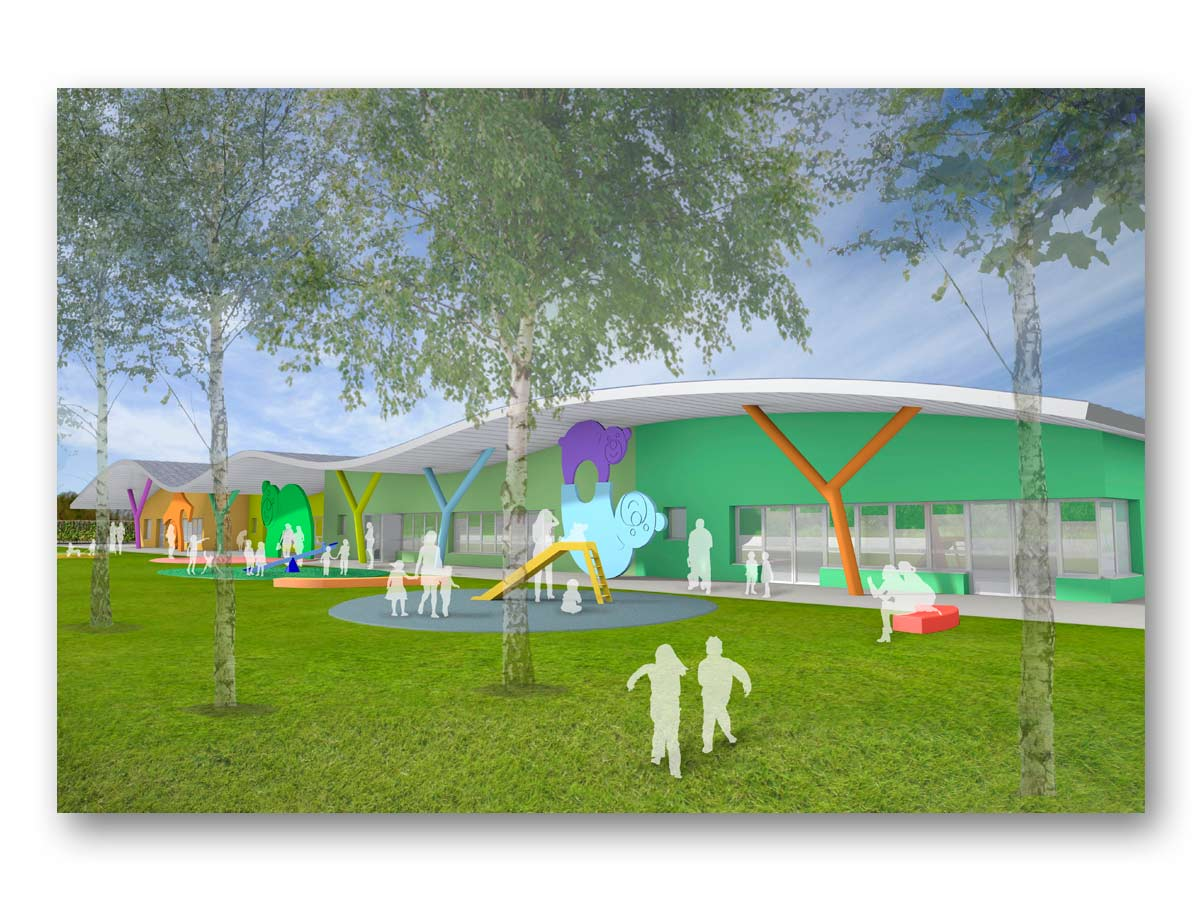 3D rendu - Lauréat coucours St LOUBES - B.SAILLOL architecture