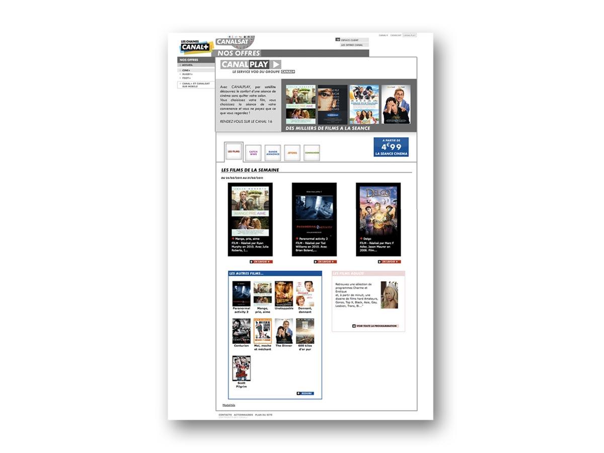 fasm design - ergonomie site canalplay - A LA SEANCE