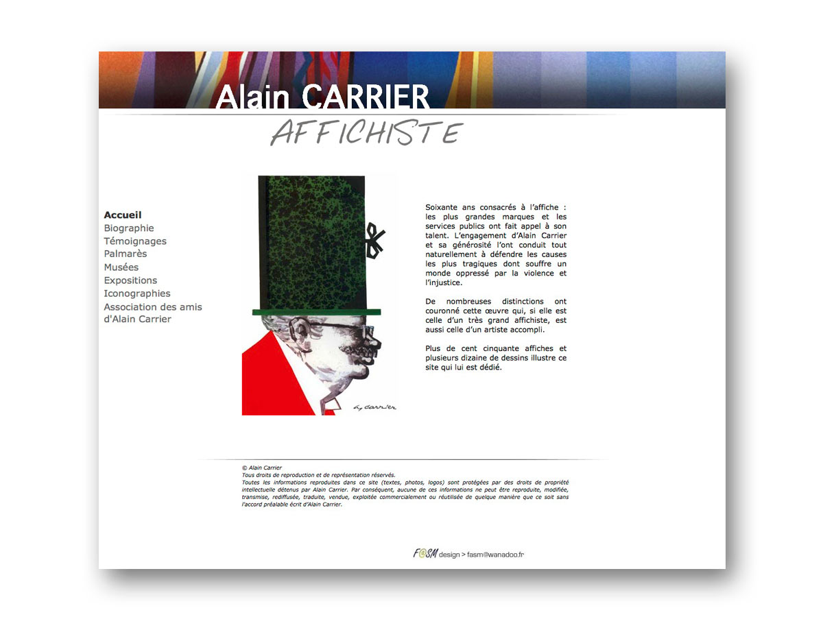 Site Alain CARRIER - fasmdesign.com