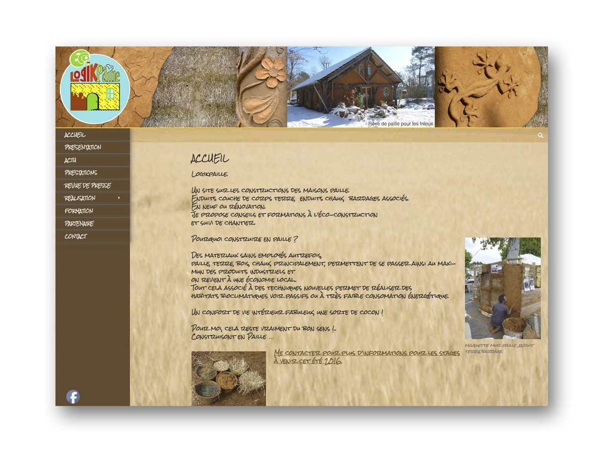 Site Logikpaille - fasmdesign.com