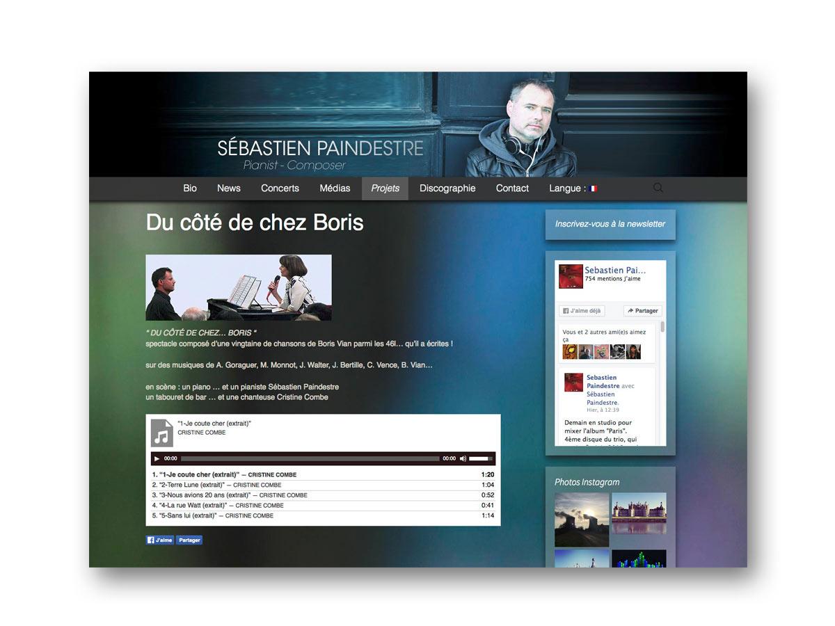 Site Sébastien Paindestre pianiste - fasmdesign.com