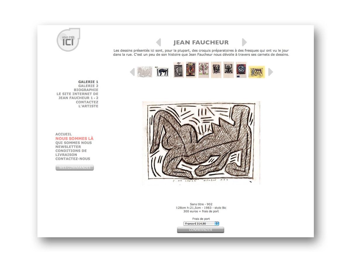 Site galerie en ligne VOUS ETES ICI - fasmdesign.com
